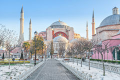Hagia Sophia in winter morning Royalty Free Stock Photos