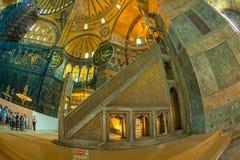 Hagia Sophia wnętrze Istanbuł Obrazy Stock