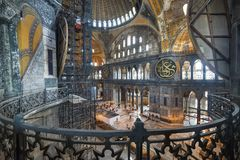 Hagia Sophia wnętrze, Istanbuł, Turcja Zdjęcie Royalty Free