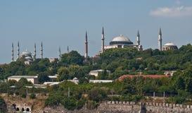 Hagia Sophia y mezquita azul en Estambul Fotografía de archivo libre de regalías