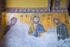 Hagia Sopia kyrkligt museum, lopp Istanbul, Turkiet Arkivfoton