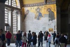 Hagia Sopia kyrkligt museum, lopp Istanbul, Turkiet Arkivbilder