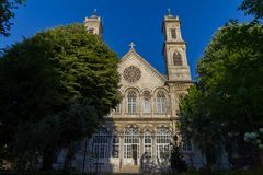 Hagia Triada Greek Orthodox Church . Istanbul, Turkey. royalty free stock photos