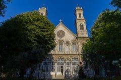 Hagia Triada grekisk ortodox kyrka Istanbul Turkiet royaltyfria foton