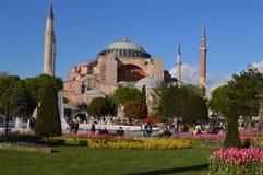 Hagiasophia in istambul stock afbeelding