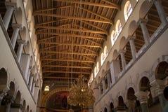 Hagios Demetrios inside. Church of Saint Demetrius in Thessaloniki, the inside view Stock Photos