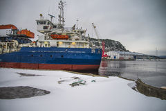 Hagland borg leaving halden harbor Stock Photography