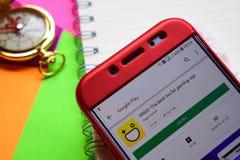 Hago-The hazardu najlepszy ogólnospołeczny dev app na Smartphone ekranie obrazy stock