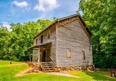 Hagood Mill Historic Site i South Carolina royaltyfri fotografi