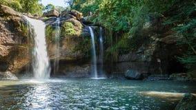HagtornSuwat vattenfall, Thailand Arkivbild