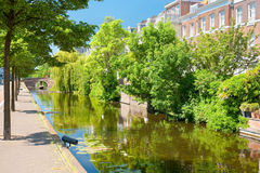 Hague channel in sunny day Royalty Free Stock Photography