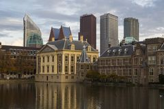 Hague city. Building of the Parliament. Binnenhof. Netherlands. Stock Photo