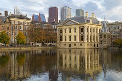 Hague city. Building of the Parliament. Binnenhof. Netherlands. Royalty Free Stock Images