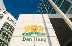 The Hague city hall Stock Photos