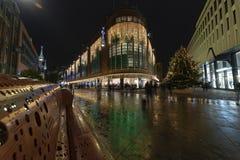 The Hague city illumination royalty free stock photography
