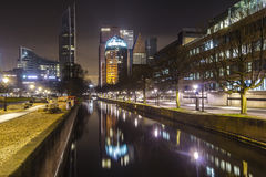 The Hague city skyline reflection Stock Images