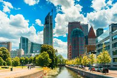 Den Haag / The Hague Skyline Royalty Free Stock Photo