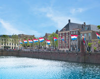 The Hague, Holland banners over the waters Stock Images
