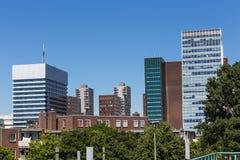 Hague linii horyzontu budynki w holandiach Fotografia Royalty Free