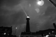 HAGUE NEDERLÄNDERNA - OKTOBER 18: Hoge vuurtoren skåpbil IJmuiden Fyr IJmuiden Haag, Nederländerna Royaltyfria Foton