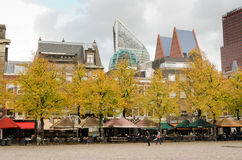 The Hague. NEDERLANDS - OCTOBER 23, 2013: Skyline of  with its modern ministries; on October 23, 2013, , Netherlands Royalty Free Stock Photo