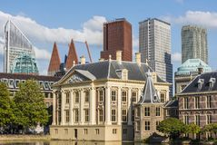 Torentje and Skyscrapers The Hague Royalty Free Stock Photography