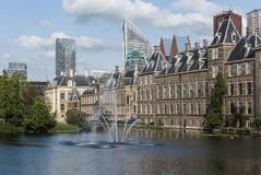 Parliament and Skyscrapers The Hague Stock Images