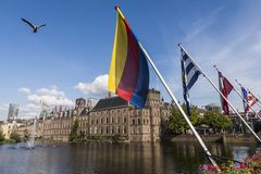 Parliament Netherlands and Flags The Hague Stock Images