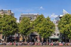Plein The Hague with Tourists Stock Photography