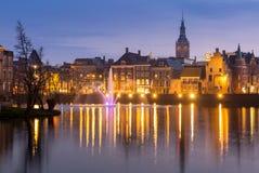 The Hague Netherlands at dusk Stock Photos