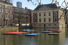 Mondrian celebration in The Hague, Holland Royalty Free Stock Image