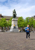The Hague, Netherlands - May 8, 2015: Children at Het Plein in The Hague Royalty Free Stock Image
