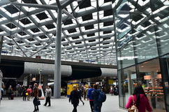 The Hague, Netherlands - May 8, 2015: Crowd at central Station of The Hague Stock Photography