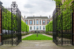 The Hague, Netherlands - May 8, 2015: Garden at Council of State in The Hague Stock Photos