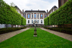 The Hague, Netherlands - May 8, 2015: Garden at Council of State in The Hague, Netherlands. Royalty Free Stock Images