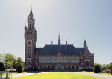 The Hague. NETHERLANDS - MAY 5, 2016: The Peace Palace in , Netherlands, which is the seat of the International Court of Justice Royalty Free Stock Photography