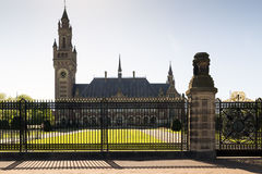 The Hague. NETHERLANDS - MAY 5, 2016: The Peace Palace in , Netherlands, which is the seat of the International Court of Justice Stock Image