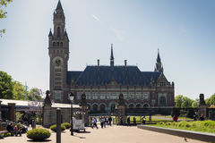 The Hague. NETHERLANDS - MAY 5, 2016: The Peace Palace in , Netherlands, which is the seat of the International Court of Justice Stock Images