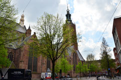 The Hague, Netherlands - May 8, 2015: People at Big Church in The Hague, Netherlands. Royalty Free Stock Image