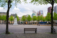 The Hague, Netherlands - May 8, 2015: People at Het Plein in center of The Hague Royalty Free Stock Photos