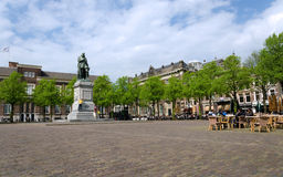 The Hague, Netherlands - May 8, 2015: People at Het Plein in The Hague Stock Photography