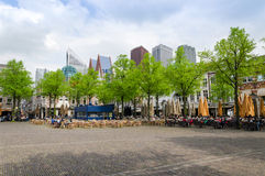 The Hague, Netherlands - May 8, 2015: People at Het Plein in The Hague Stock Images