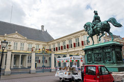 The Hague, Netherlands - May 8, 2015: People visit Noordeinde Palace, the Hague Stock Image