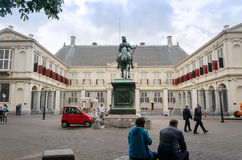 The Hague, Netherlands - May 8, 2015: People visit Noordeinde Palace, the Hague Royalty Free Stock Image