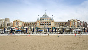 The Hague, Netherlands - May 8, 2015: Tourists at Kurhaus of Scheveningen, The Hague. In the Netherlands is a hotel which is called the Grand Hotel Amrath royalty free stock photo