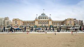 The Hague, Netherlands - May 8, 2015: Tourists at Kurhaus of Scheveningen, The Hague Royalty Free Stock Photo