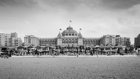 The Hague, Netherlands - May 8, 2015: Tourists at Kurhaus of Scheveningen Stock Photo