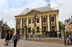 The Hague, Netherlands - May 8, 2015: Tourists visit Mauritshuis Museum in The Hague Stock Photography