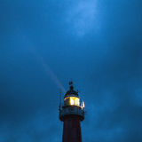 HAGUE, NETHERLANDS - OCTOBER 18: Hoge vuurtoren van IJmuiden Lighthouse. IJmuiden, The Hague, Netherlands Royalty Free Stock Images