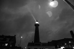 HAGUE, NETHERLANDS - OCTOBER 18: Hoge vuurtoren van IJmuiden Lighthouse. IJmuiden, The Hague, Netherlands Royalty Free Stock Photos
